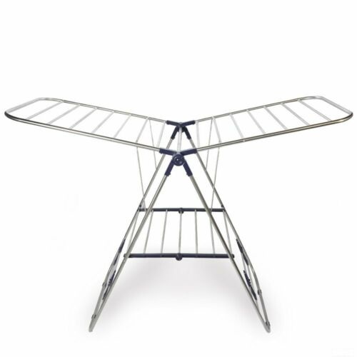 CMT STAINLESS STEEL CLOTHES DRYING RACK ADJUSTABLE GULLWING AND FOLDABLE FOR EAS