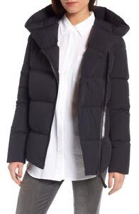 Pre-Owned-Women-039-s-MACKAGE-Black-Tamia-N-Asymmetrical-Zip-Down-Coat-size-XS