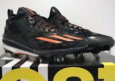 sports shoes 4a88b 38dfe Adidas Mens Size 8 Energy Boost Icon 2 Metal Baseball Cleats Black Orange