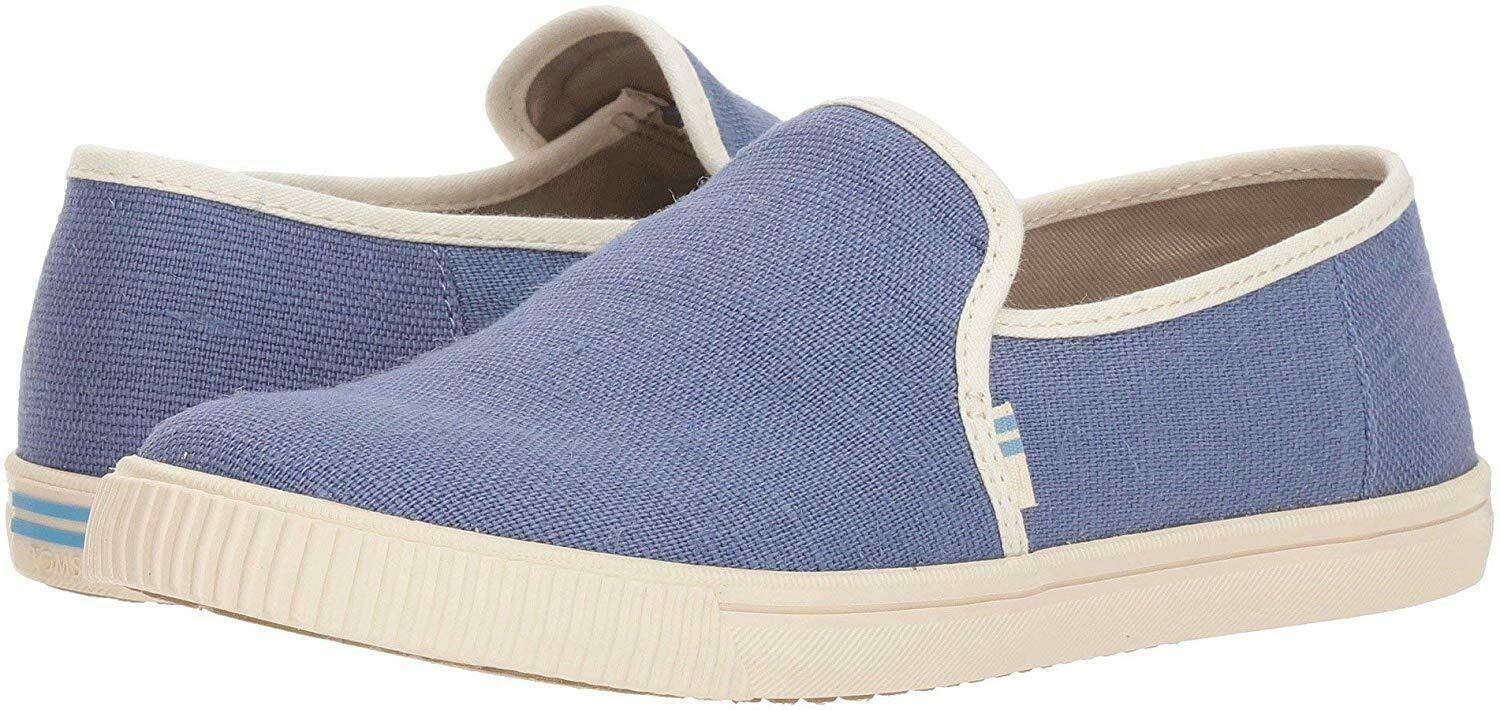TOMS Womens Size 11 Infinity Blue Heritage Canvas Ankle-High Slip-On Shoes NEW