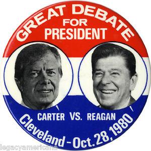 1980 Jimmy Carter Ronald Reagan GREAT DEBATE Jugate ...