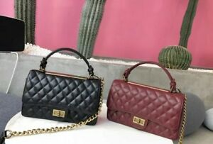 c0e17d66bd Image is loading MW009858-FASHION-HANDLE-QUILTED-SHOULDER-CHAIN-BAG
