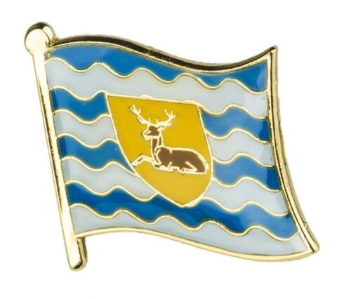 UK SELLER - FREE UK POST Hertfordshire County Flag Enamel Lapel Pin Badge