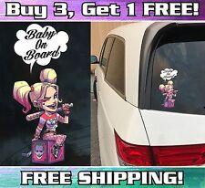 Harley Quinn Baby on Board Bumper Sticker Decal