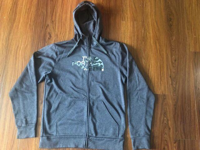 9986c1aa0 The North Face TNF Men's Black/Camo Logo Medium Hoodie Sweatshirt Full Zip  Up