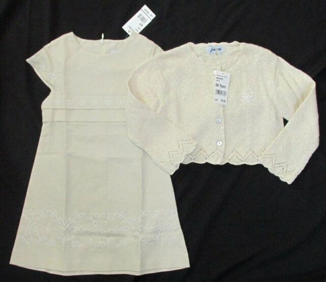 9dfd0cb44e90 Jacadi 4 4t Dress Sweater Linen Blend Cardigan Boutique Easter Girl ...