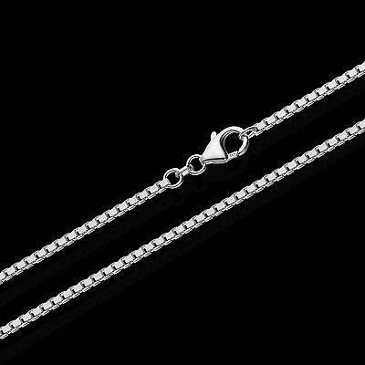 1,80mm Echte 925er Sterlingsilber Venezianerkette Silberkette Halskette Colier Starke Verpackung