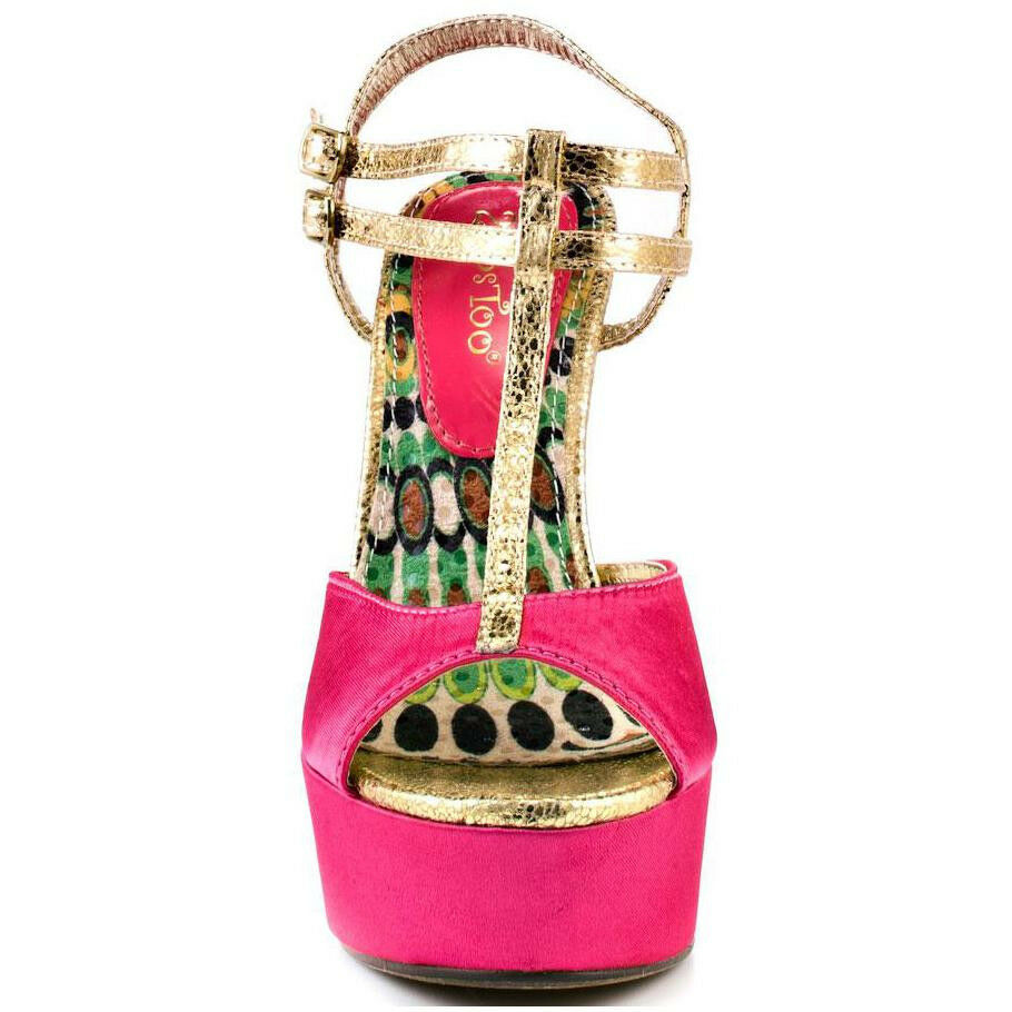 2 Lips Too Spicy Fuchsia Size and Gold Women Shoes Size Fuchsia 9 Pre-owned Great Condition 7577fe