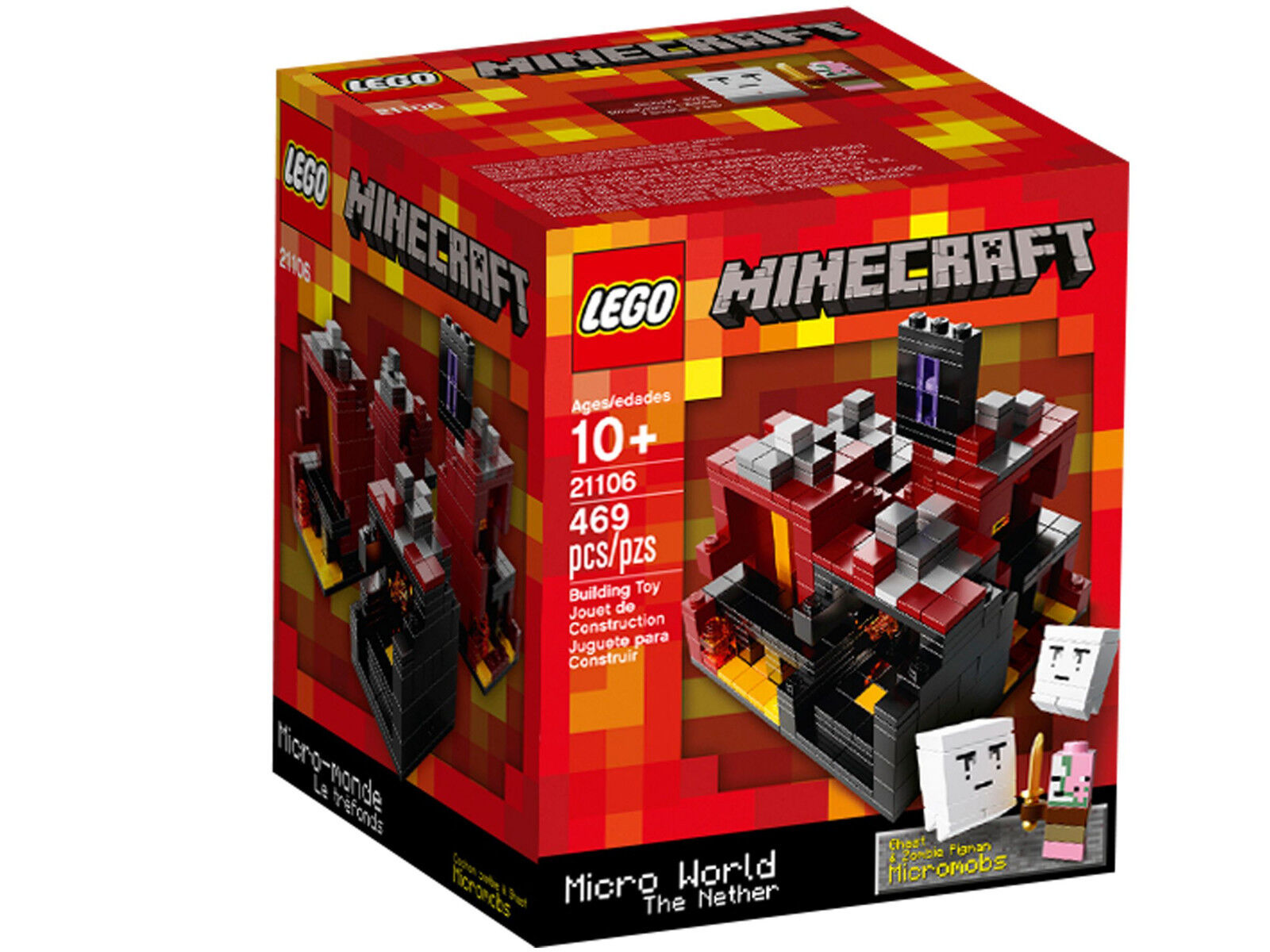 LEGO 21106 Minecraft Micro World - The Nether - Ideas Cuusoo Steve Creeper