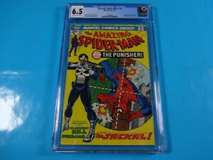 CGC-Comic-graded-6-5-amazing-spiderman-129-1st-app-punisher-HOT-Key-issue