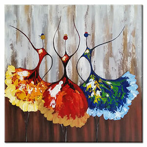 Details About Hand Paint Canvas Paintings Home Decor Wall Art Picture Ballet Girls Abstract