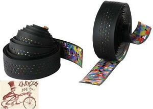 CINELLI-CALEIDO-RIBBON-BLACK-BICYCLE-HANDLEBAR-BARTAPE-BAR-TAPE