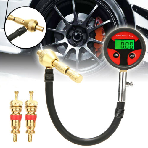 Rapid Tyre Tire Pressure Gauge Tool Deflator Air Deflators 4X4 4WD 2 Tire Cores