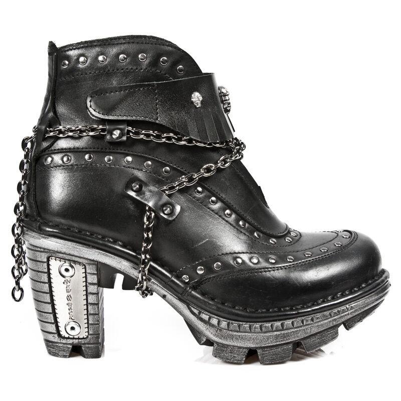 New Rock negro botines zapatos botas Gothic negro Rock m. neotr 011-c1 30 días 9e2595