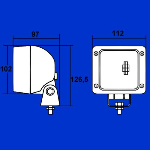 Hella Ultra Beam FF Arbeitsscheinwerfer für Fendt Favorit Vario G312901110010