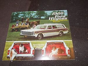 Details about NOS 1966 FORD FAIRLANE FALCON CUSTOM COUNTRY SQUIRE STATION  WAGON SALES BROCHURE