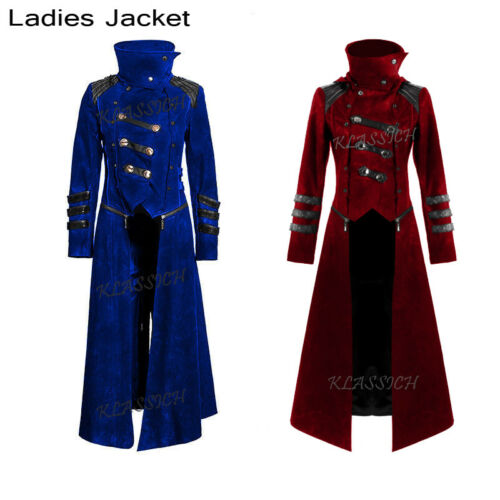 New Scorpion Women/'s Coat Long Jacket  Goth Steampunk Hooded Trench