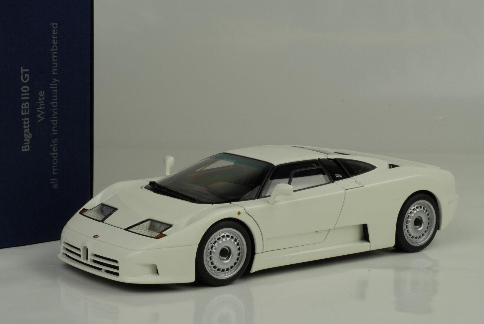1991 Bugatti Bugatti Bugatti EB110 Gt Bianco 1:18 Autoart c46ccf