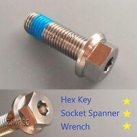 M10 X 1.5 X 30 Titanium Ti Screw Bolt Socket Cap Hexagon Hex Flange Head +blue