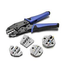Crimping Tool Set Qibaok Ratcheting Wire Crimper Tool With 4 Pcs Interchangea