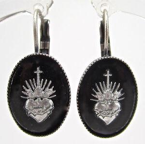 SoHo-Ohrhaenger-bohemia-Glas-rebell-heart-handgemachte-Glassteine-schwarz-gothic