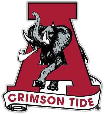 "Alabama Crimson Tide NCAA Vinyl Car Bumper Window Sticker Decal 4.6/""X4.6/"""