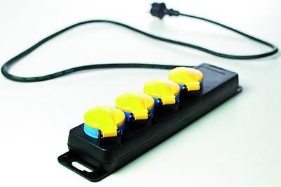 Kabelmaterial 4-fach Steckdose Schuko Steckdosenleiste Mehrfachstecker Verlängerungskabel Ip44 Taille Und Sehnen StäRken Elektromaterial