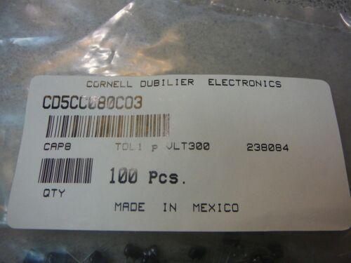 CORNELL DUBLILIER MINI-DIPPED SILVER MICA CAP 8pF 300V Radial **NEW** 10//PKG