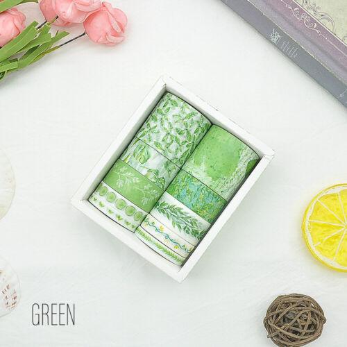 10 Rolls//Box Washi Tape Decorative Scrapbooking Paper Adhesive Sticker Crafts