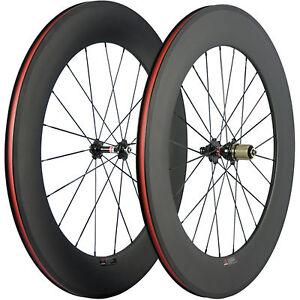 100-Carbon-Race-Bicycle-Wheelset-88mm-Carbon-Wheels-Road-Bike-Wheel-3k-Matte