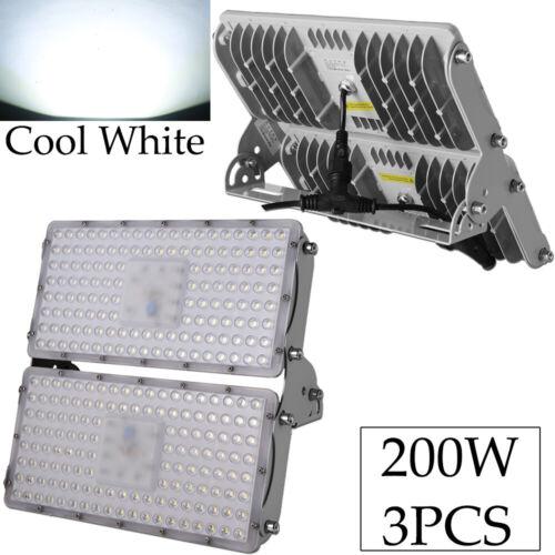 200Watts Viugreum LED Flood Light Cool White Outdoor Landscape Fixtures 3-PACK