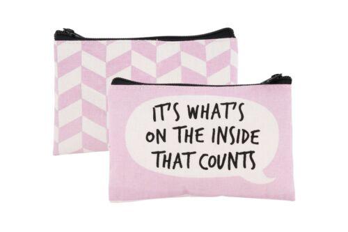 Cheeky Bubbles Fun Slogan Canvas Coin Purse Make-Up Case Purse Ladies Girl Gift