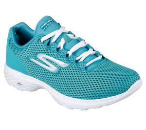 Detalles de Nuevas Zapatillas Zapatos Para Caminar Zapatillas De Mujer Skechers Go Train bombo Turquesa ver título original