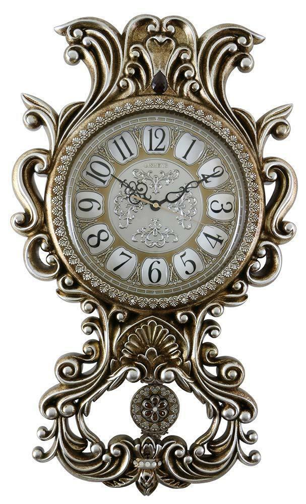 (D) spectaculaire horloge murale 26 x 15 in (environ 38.10 cm) avec motif floral decor