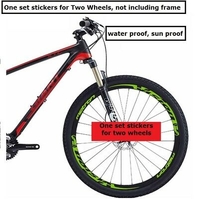 Two Wheel Set Rim Stickers for Vision Metron Mountain Bike Bicycle Cycle Decals