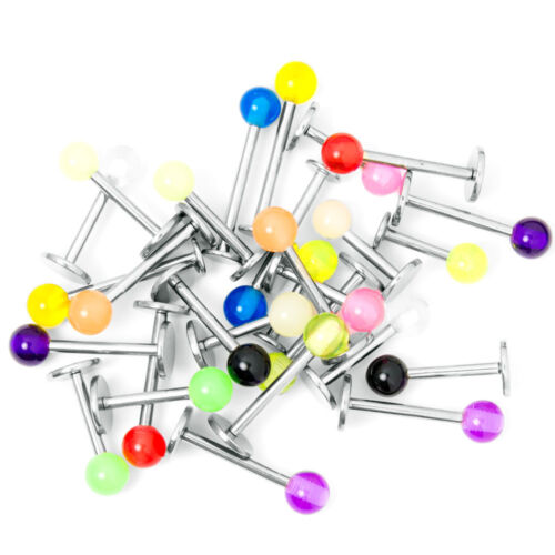 Monreo Labret Studs Ring 16g Pack Of 20 Mix Colors
