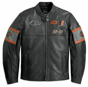 Harley-Davidson-Screaming-Eagle-Herren-Jungen-Motorrad-Motorrad-Lederjacke