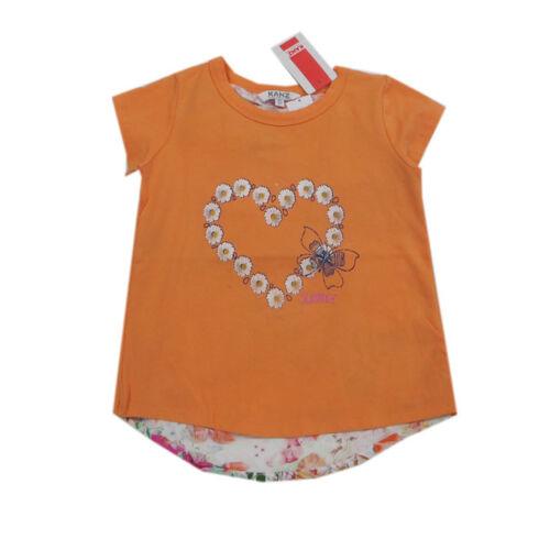 Kanz T-Shirt Shirt kurzarm Rundhals Orange Baumwolle Mädchen Gr.86,104,122,128