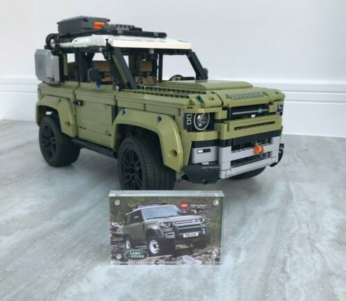 Lego Technic Land Rover Defender 42110  Acrylic Display Case Plaque