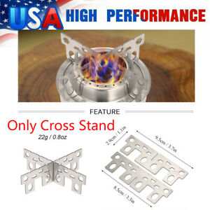 Alcohol Stove Rack Titanium Burner Cross Stand Outdoor Camping Stove Stand B3O0