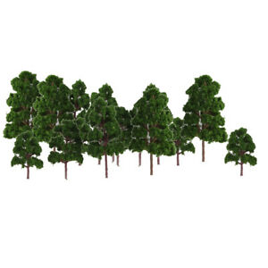 20Piece Mix Size Model Tree Deep Green For N HO Scale Layout Diorama Scenery