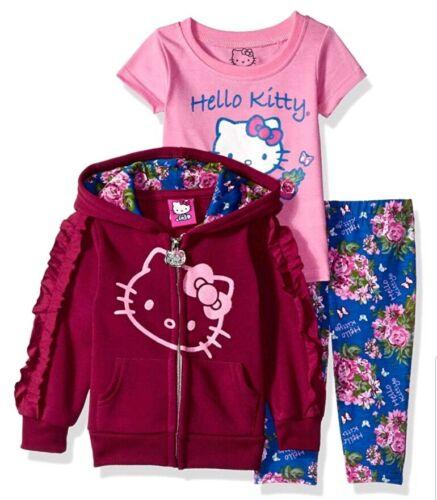 Hello Kitty Girls/' 3 Piece Hooded Legging Set Size 2T