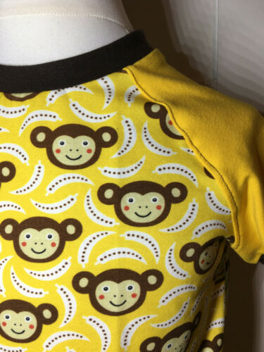 NUOVO dawanda Camicia a maniche corte pezzo unico handmade scimmie raglanshirt