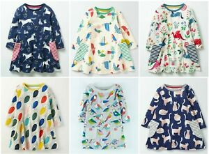 Girls-Mini-Boden-3-4-Sleeve-Pocket-Tunic-Dress