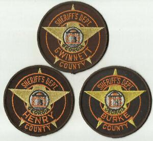 Burke-Henry-Gwinnett-GEORGIA-County-Sheriff-Patches