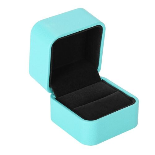 PU Leather Jewelry Storage Boxes Jewel Gifts Accessories Packing Case Ring Box