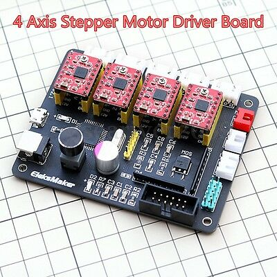 4 Axis USB CNC Stepper Motor Control Board Driver 12V Power For Laser Engraver