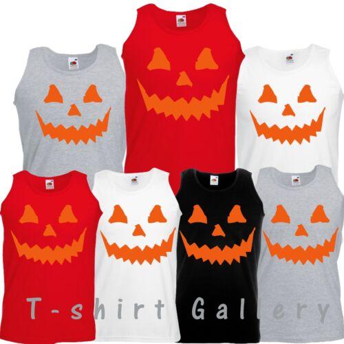 Happy Halloween  SKELETON THE NIGHTMARE Pumpkin Horror Costume Scary Vest Top