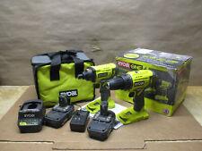 Ryobi P1817 Cordless 2 Tool Combo Kit With Drilldriver Impact Driver
