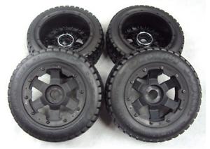 Derrape frontal y trasera neumáticos x 4 un. set para 1 5 Piezas De Hpi Baja 5 T RC Coche